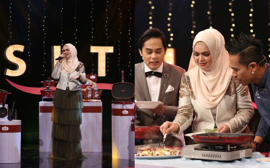 Hasil carian imej untuk Selepas periuk, Siti Nurhaliza jual make-up pula di Go Shop!