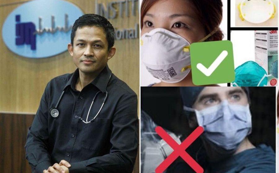 """""""Guna Topeng Muka N95 Untuk Masalah Jerebu"""" - Doktor Tampil Menasihati Rakyat Malaysia"""