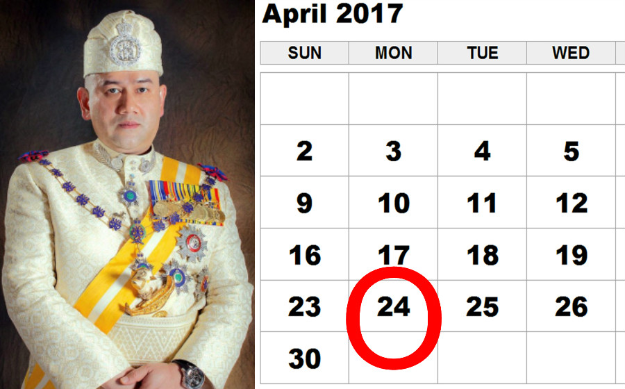 24 April Cuti Umum Hari Pertabalan Agong Artikel Gempak