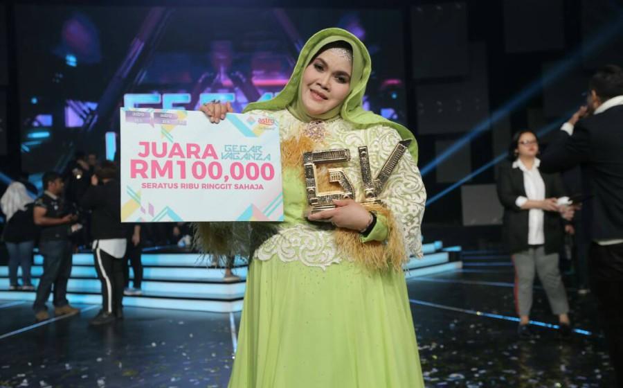 Aishah  Juara Gegar Vaganza 4, Bawa Pulang RM100,000