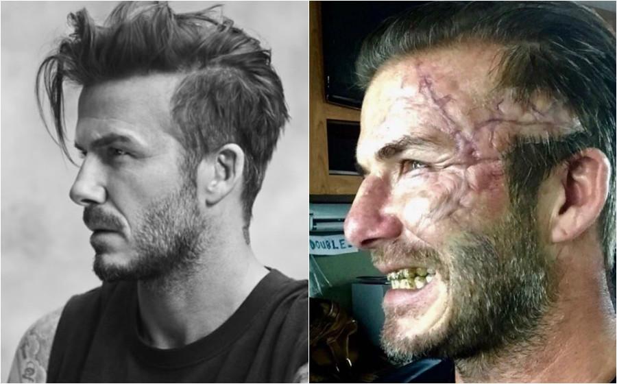 Peminat Terkejut Wajah Hodoh David Beckham