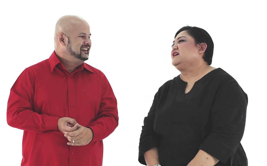 Harith Iskander, Adibah Noor Elak Lawak Persenda Fizikal Di AIM 22