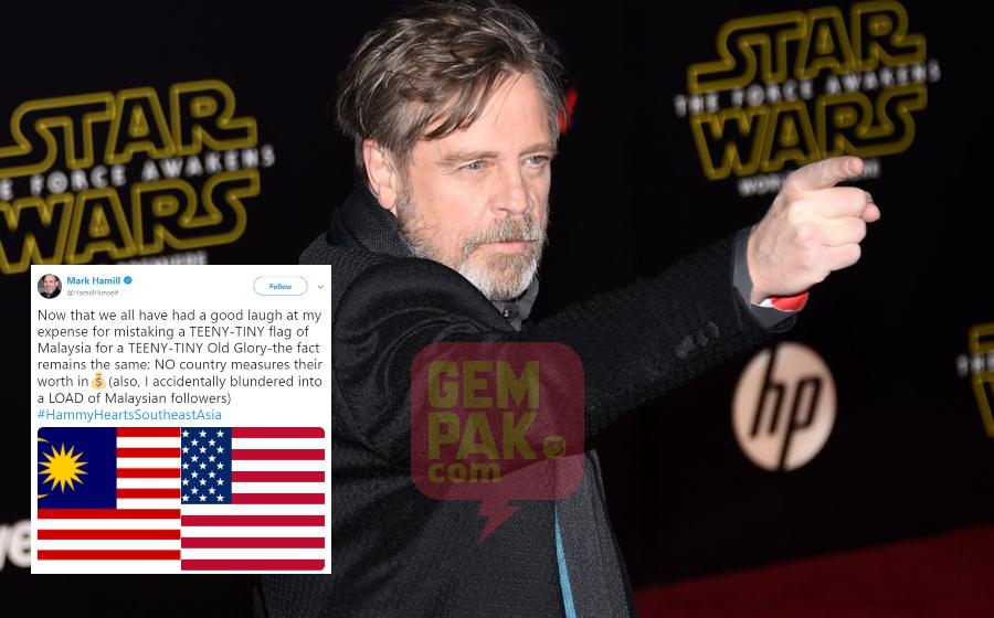 Gara-Gara Tweet Emoji Jalur Gemilang, Pelakon Star Wars Ini Terima Banyak Followers Malaysia!