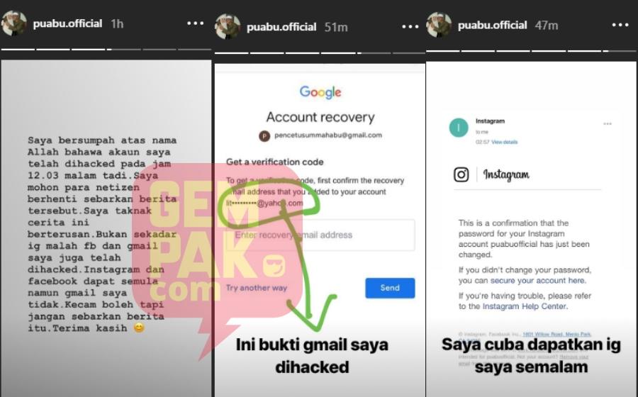 Dilaporkan Bernikah Janda Beranak Satu Di Thailand Pu Abu Dakwa Instagram Kena Hacked Gempak