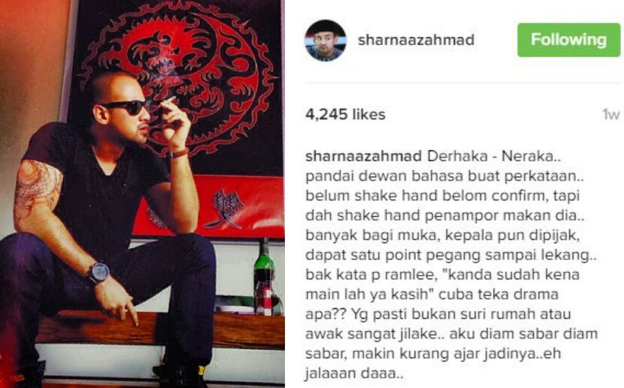 Marah Kepala Dipijak, Peminat Tenangkan Sharnaaz Ahmad