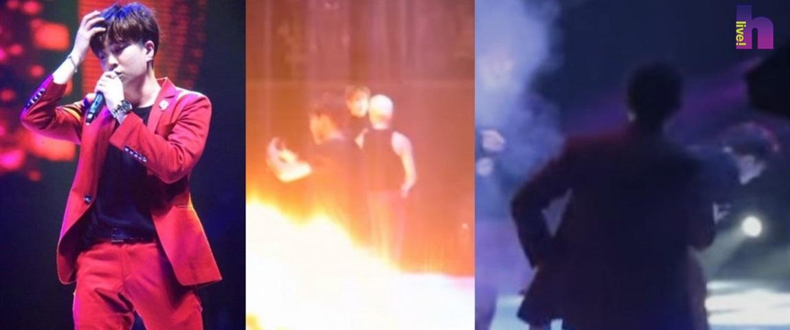 YoungJae Got7 Hampir Terkena Letupan Bunga Api, Peminat Mohon Maaf