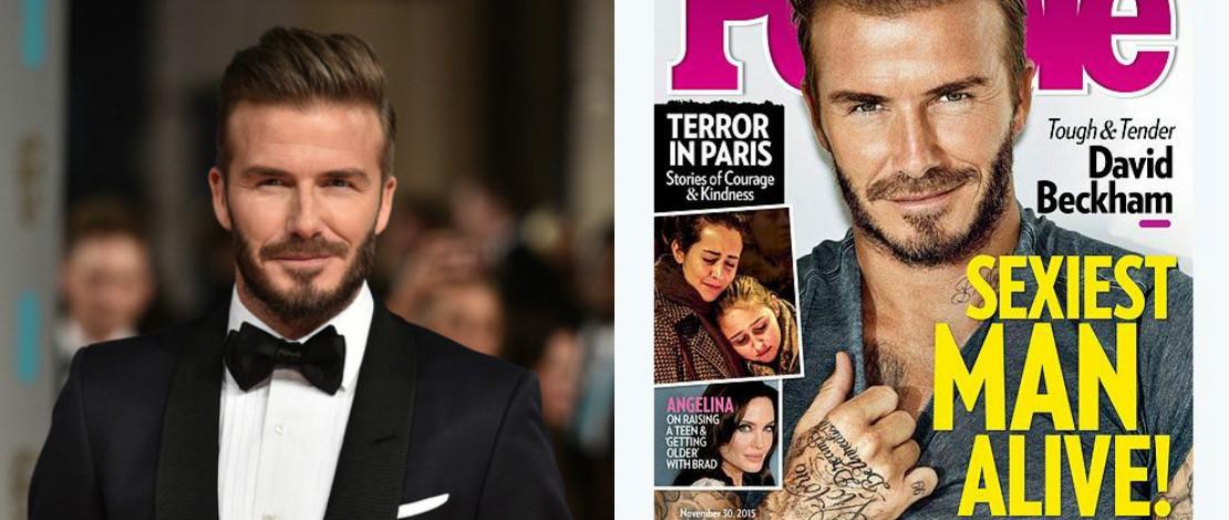 David Beckham Dipilih Lelaki Paling Seksi  2015