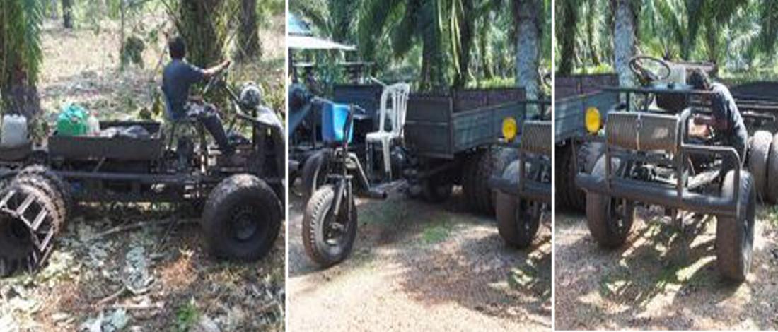 Trak Serbaguna  Wagiman Berjaya Bantu Petani Angkut Hasil Kelapa Sawit