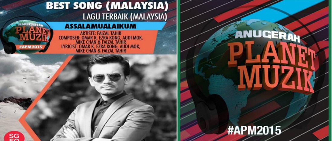Anugerah Planet Muzik 2015, Assalammualaikum Lagu Terbaik Malaysia