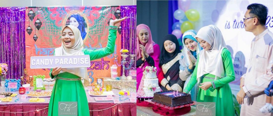 Foto Comel Mira Filzah Sambut Hari Jadi Tema Bollywood