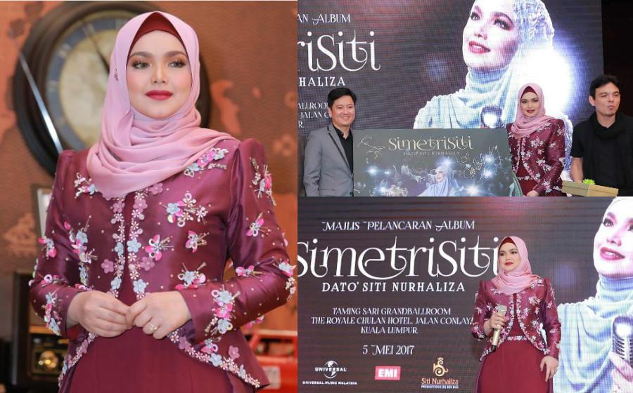 Datuk Siti Terharu, 300 Unit Album SimetriSiti Habis Ditempah Dalam Masa 20 Minit