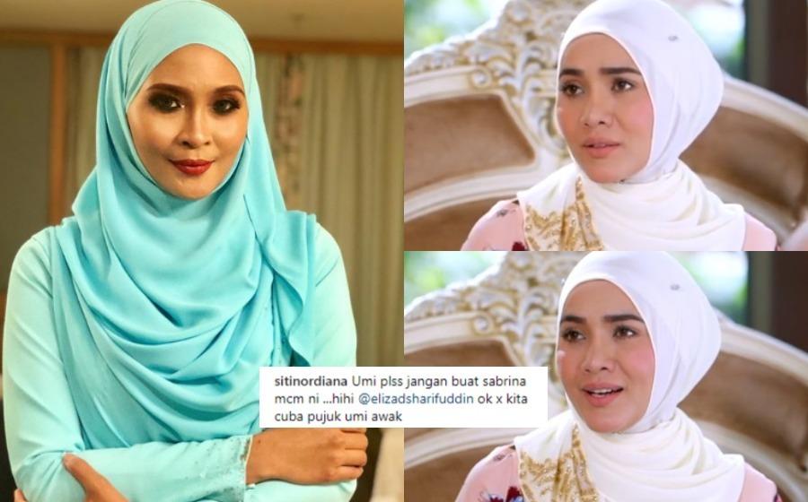"""Umi Please Jangan Buat Sabrina Macam Ni"" – Siti Nordiana Usik Elizad"