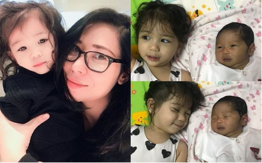 Comelnya Gelagat Anak Yaya Maembong, Seri Aileen Tiru Gaya Adiknya