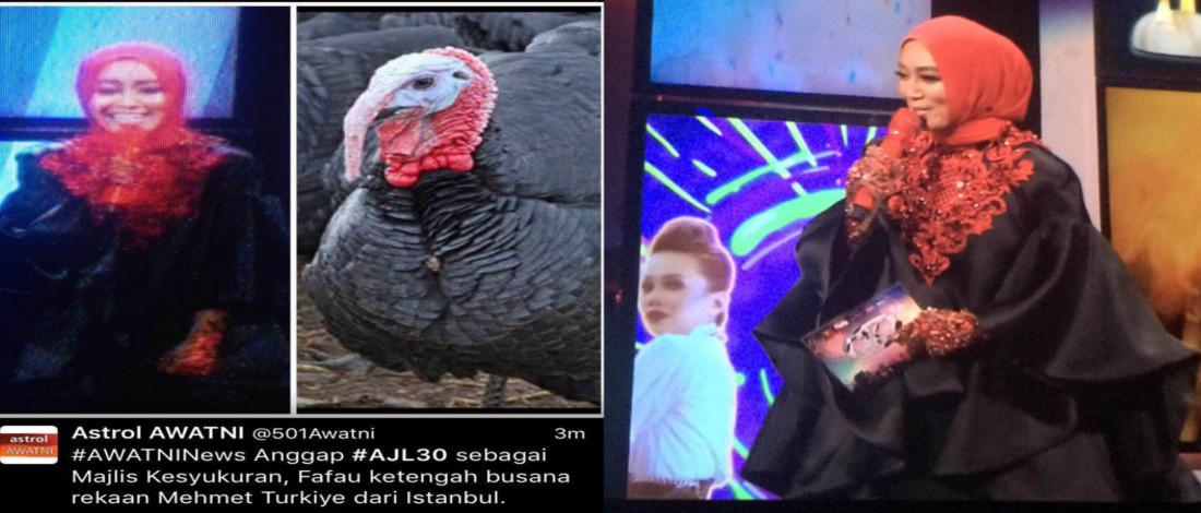 Apabila Baju Ala Ayam Turki Fara Fauzana Jadi Viral...