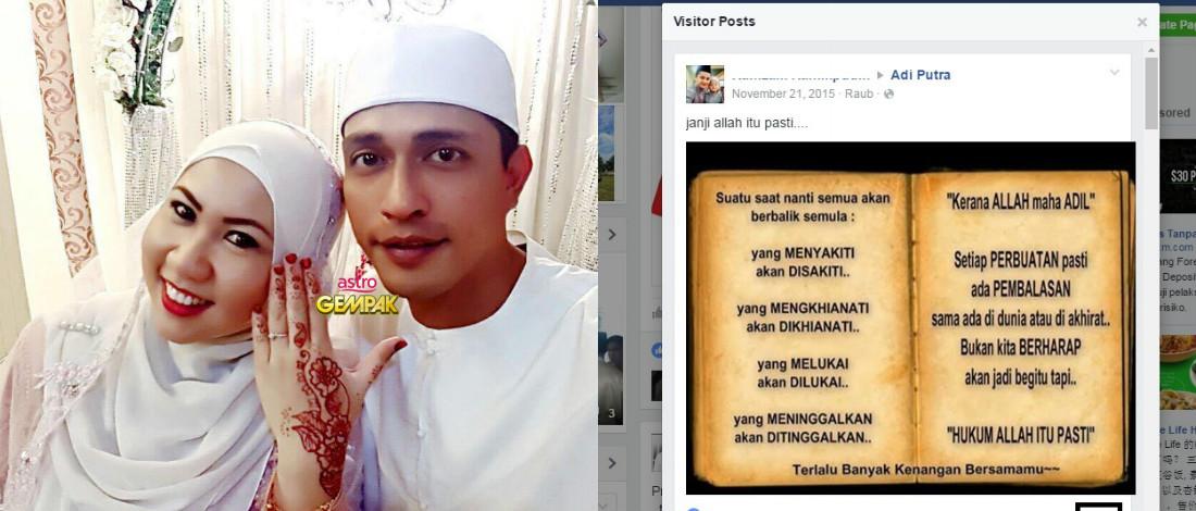 Bekas Suami Dakwa Ditinggalkan Isteri Kerana Adi Putra?