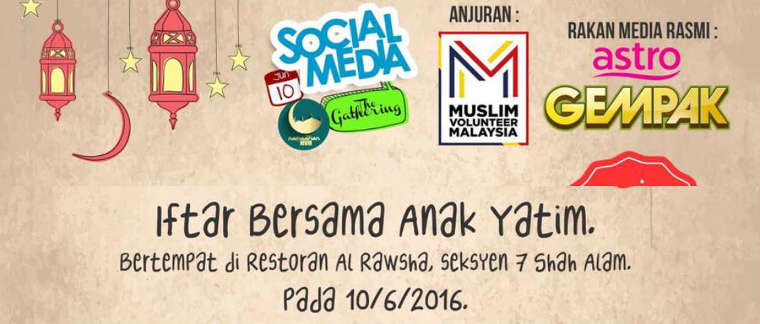 Kolaborasi Astro Gempak Bersama Muslim Volunteer Malaysia Anjur Iftar Anak Yatim