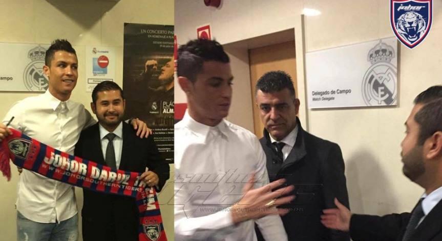 Cristiano Ronaldo Bergambar Bersama TMJ & Mafla JDT Jadi Perhatian