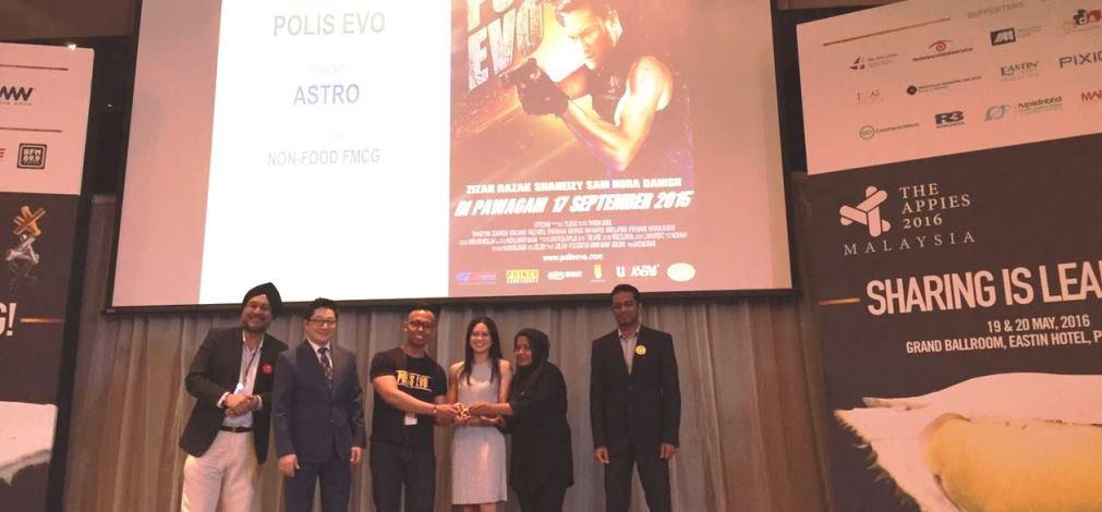 Polis Evo Menang Pingat Emas Di Anugerah Appies 2016
