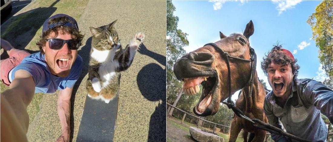 Jurugambar Ini Mengaku Tidak Mudah Mengambil Gambar Selfie Dengan Haiwan