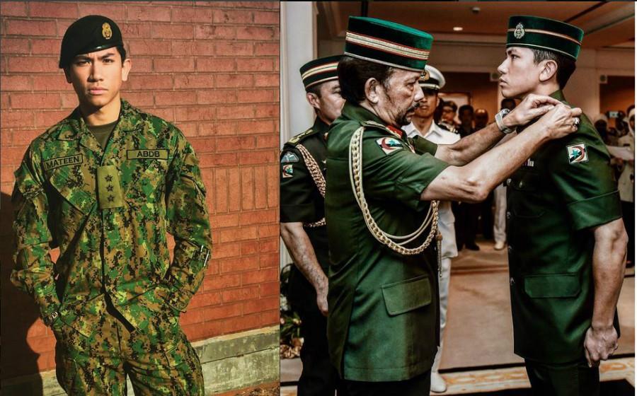 Foto Putera Mateen Pakai Uniform Tentera Tarik Perhatian Ramai