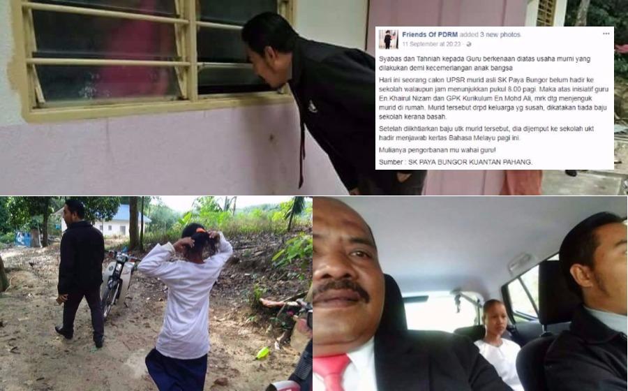 Mulianya Hati Cikgu! – Guru Sanggup ke Rumah Jemput Murid Menduduki UPSR