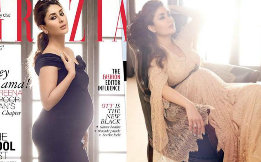 Kareena Kapoor Tayang Kandungan 9 Bulan Untuk Majalah Fesyen