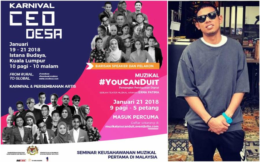Fattah Amin, Nabil Ahmad, Erra Fazira & Awie Meriahkan Muzikal #YouCanDuit