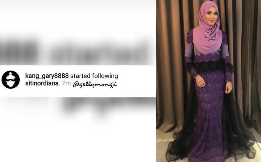Mungkin Kang Gary Tertekan Butang Follow IG Saya -Siti Nordiana