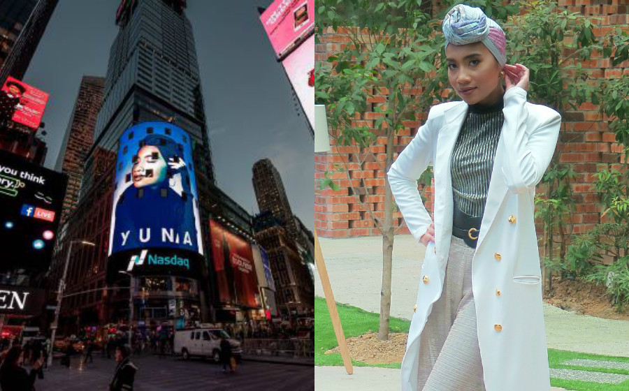 Saat Dilanda Kontroversi, Wajah Yuna Hiasi Skrin Gergasi, Times Square New York