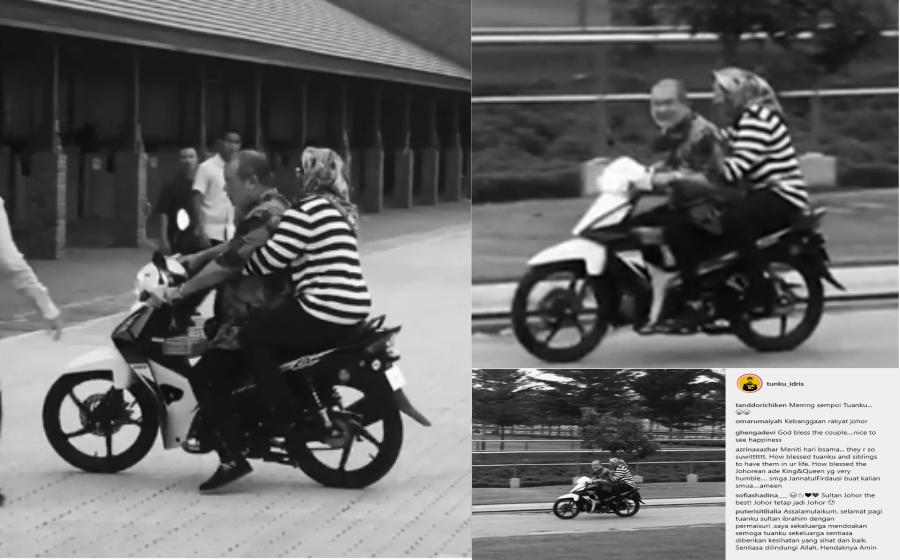 Bawa Motor Bonceng Permaisuri, Gelagat Sultan Johor Curi Tumpuan Netizen
