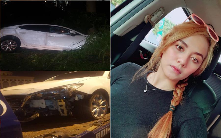Terlibat Dengan Kemalangan Jalan Raya, Tunku Hanis Kesal Barang Kemas & Duit Dicuri