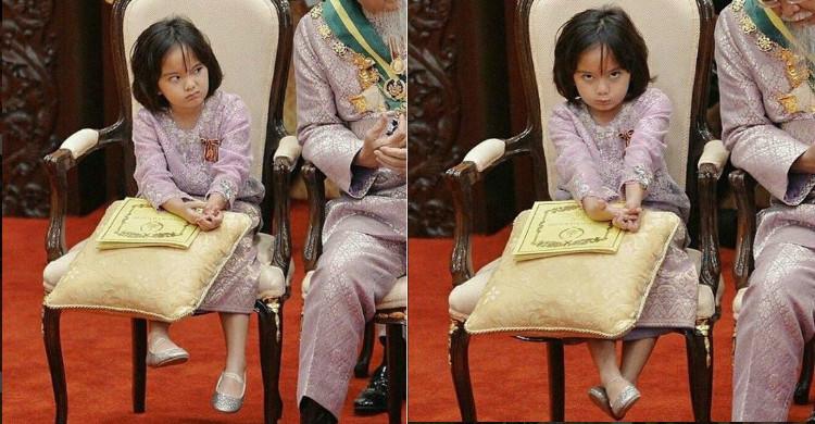 Aksi Comel Raja Nazira Di Balairung Istana Perak Curi Perhatian Netizen