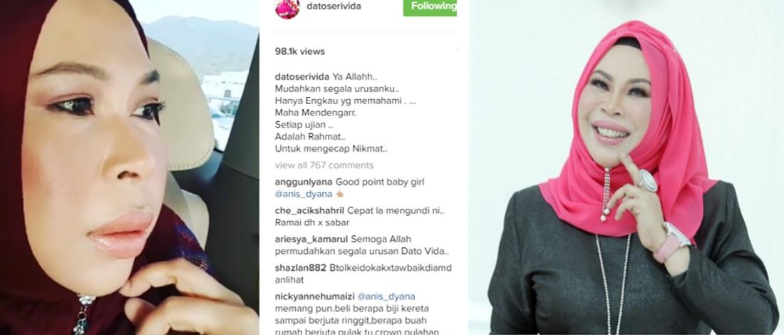 Jawapan Ekslusif Datuk Seri Vida Selepas Menerima Dugaan Terbesar Dalam Hidupnya