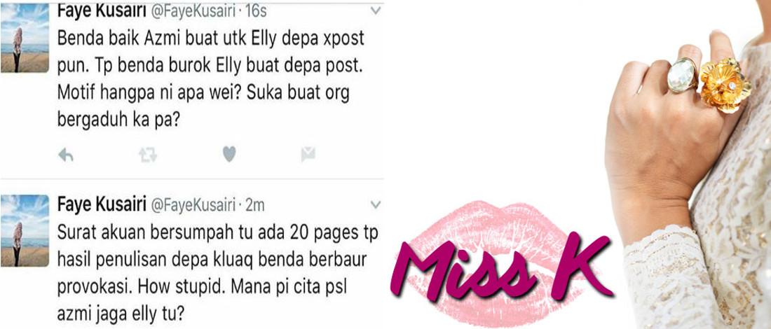 Bela Azmi Hatta, Faye Kusairi Tuduh Wartawan Bodoh?