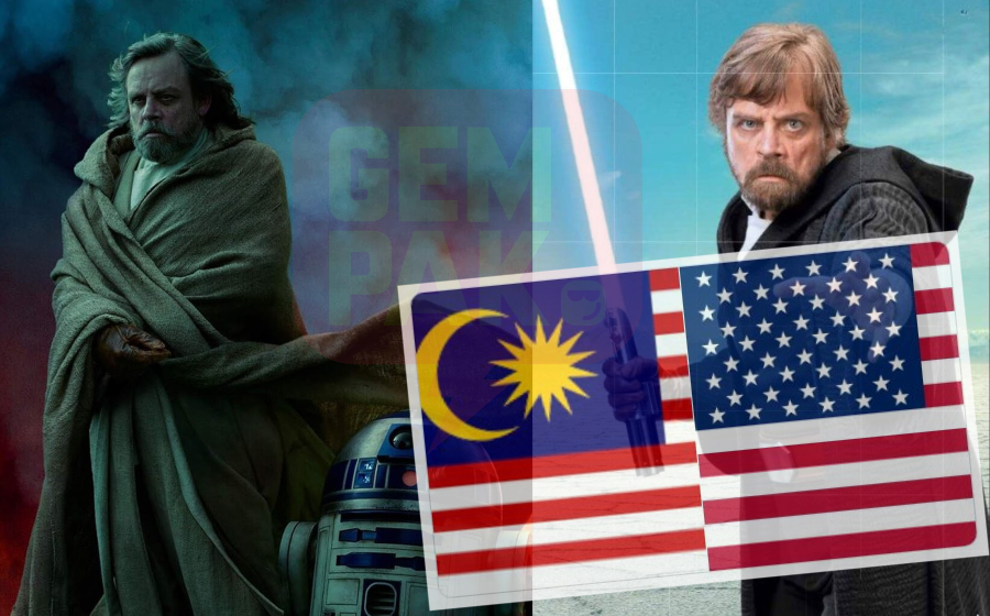 Pelakon Star Wars Tertukar Bendera Amerika Syarikat Dengan Jalur Gemilang, Jadi 'Lauk' Netizen Mentah-Mentah!