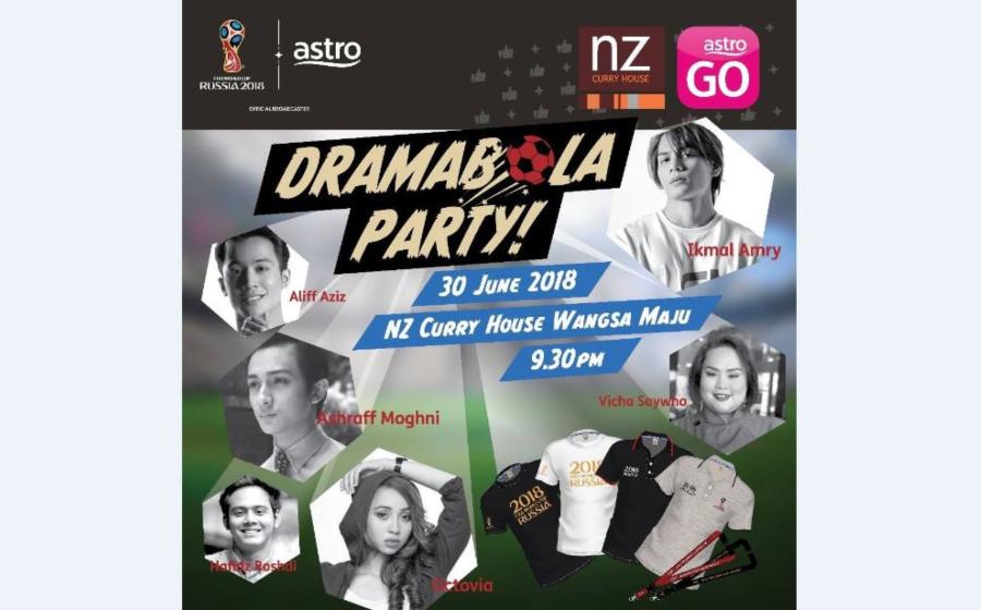 Jom Sertai Kemeriahan Dramabola Party Bersama Selebriti Terkenal Malam Ini!