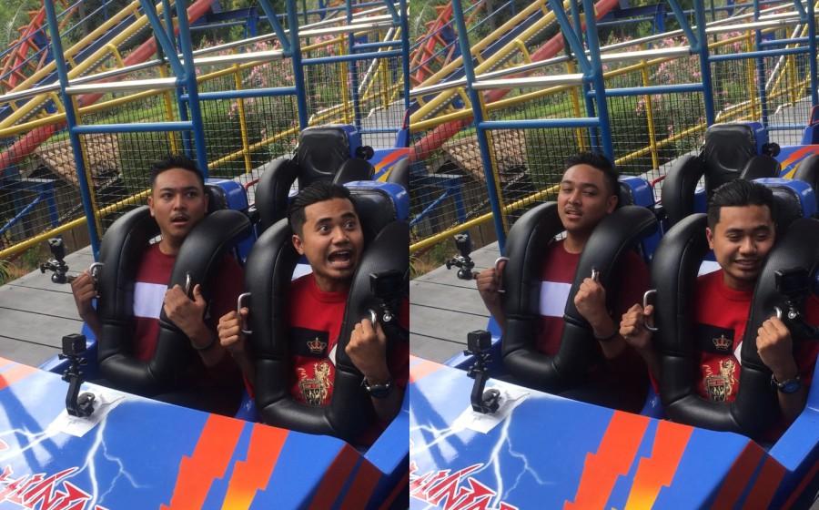 Lan Solo Cuak Naik Roller Coaster?