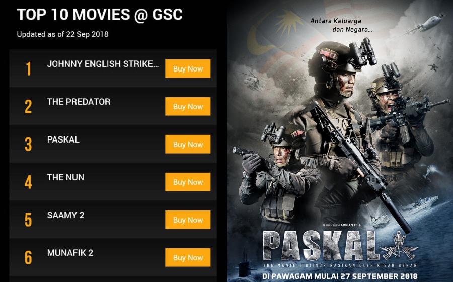 Cayalah PASKAL The Movie! Baru Sneak Preview, Dah Menduduki Tempat Ke-3 Carta Top 10 Movies @ GSC!