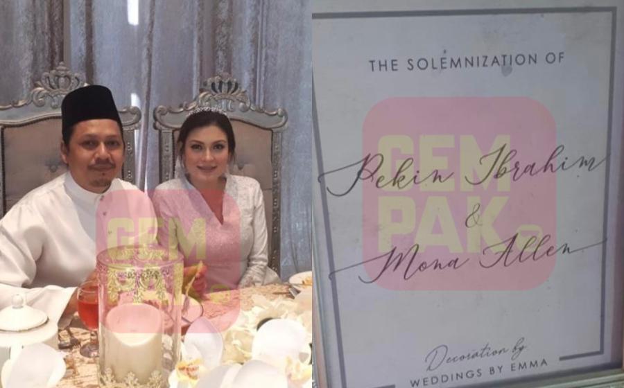 Pekin Ibrahim & Mona Allen Sudah Bernikah?
