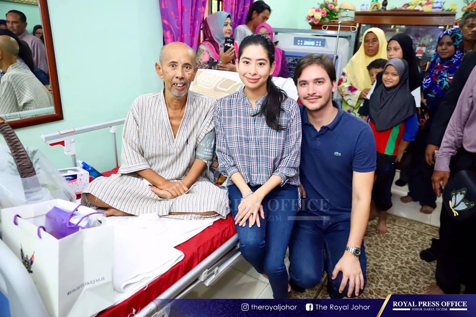 Tunku Tun Aminah Lawat Zaibo Beri Sokongan Lawan Kanser