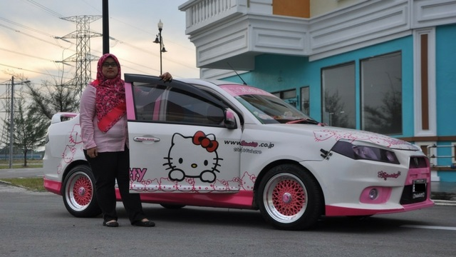 Gambar Kereta Versi Kartun Hello Kitty Dan Kaum Hawa Sukar Dipisahkan Artikel Gempak