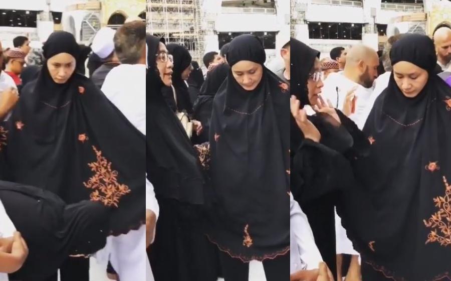 """""""Menantu Terbaik"""" - Peminat Sebak Tengok Marsha Jaga Ibu Solat Depan Pintu Kaabah"""