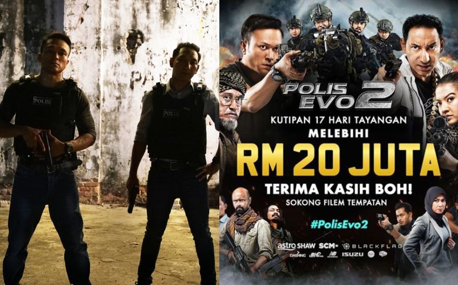Hebat Boh! 17 Hari Tayangan Polis Evo 2 Raih Kutipan Melebihi RM20 Juta