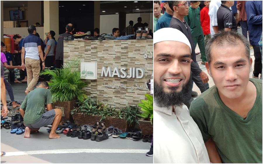 Lelaki Bukan Muslim Ini Pergi Masjid Setiap Hari umaat Susun Selipar