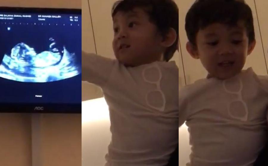 """Oww There, It's Baby"" – Reaksi Yusuf Bila Tengok Video Imbasan Ultrasound Hanis Zalikha"