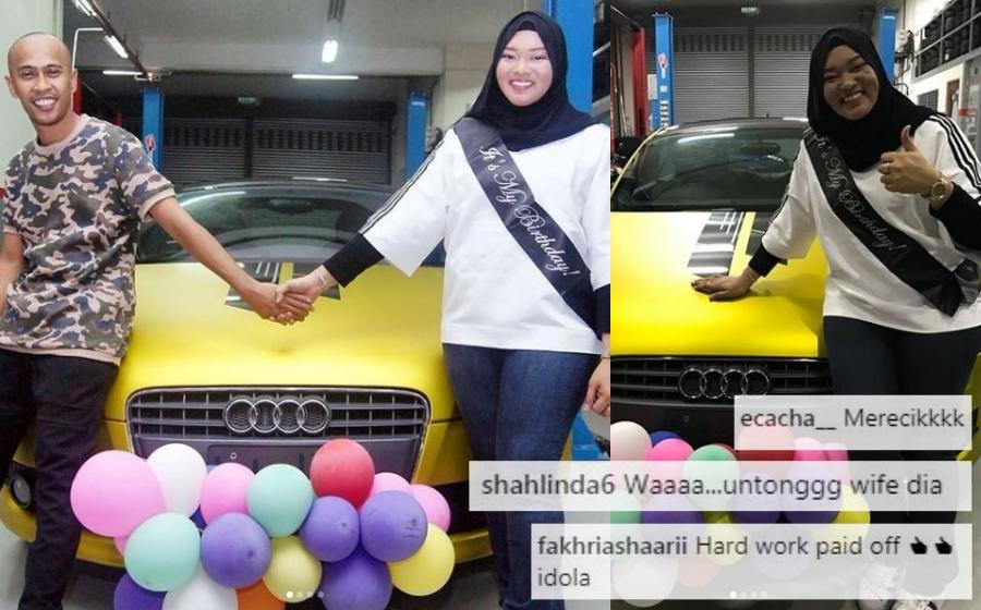 Merecik! Achey Hadiahkan Isteri Kereta Mewah Audi TT RM285,000 Sempena Hari Jadi