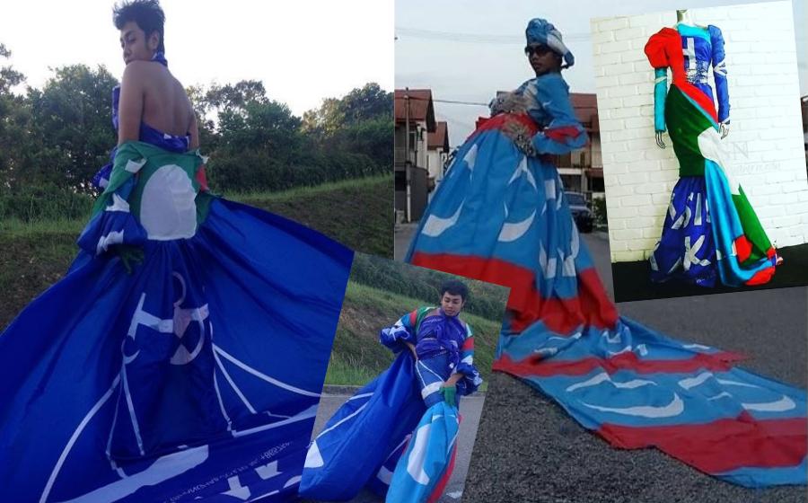 Bendera Parti Politik Jadi Dres, Kreatif Betul Rakyat Malaysia!