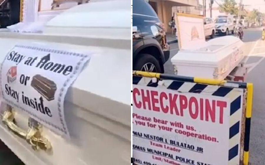 Insaf Terus! Polis Filipina Guna Keranda Ingatkan Orang Ramai Duduk Rumah!