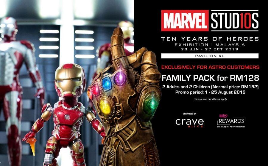 Avengers Assemble! Rancakkan Cuti Sekolah Dengan Pakej Terbaru Pameran Marvel Studio!