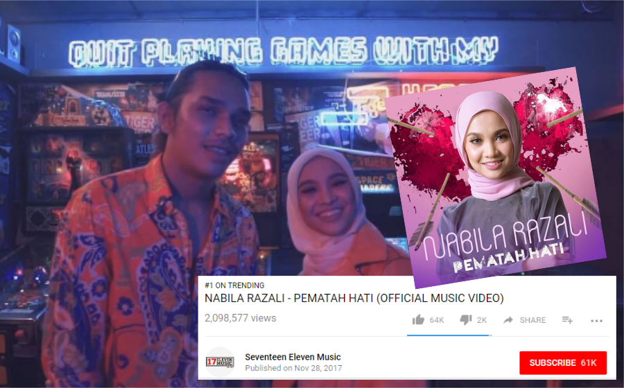 Trending! Baru Seminggu Dilancarkan, Muzik Video Pematah Hati Nabila Razali Ditonton 2 Juta Kali